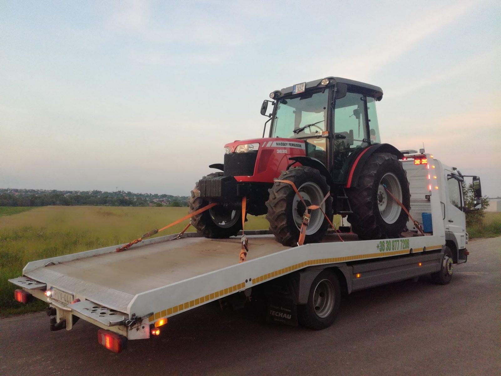 mezőgazdasági gépek szállítása