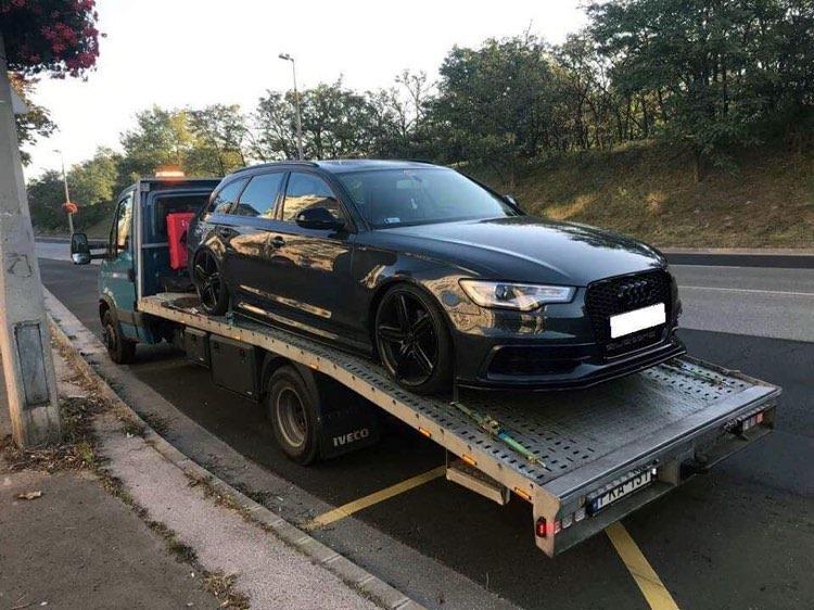 Autómentés magyarországon Audi mentés